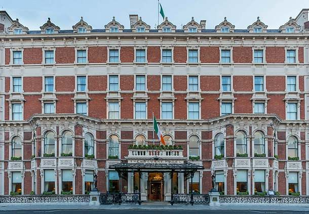 Shelbourne Hotel Dublin * Shelbourne Hotel Founded in 1824 and renovated from a group of townhouses, the Shelbourne Hotel overlooks the tranquil St. Stephen's Green. It is famous in Ireland due to its immaculate reputation, but the tales of supernatural goings on are hard to resist when sitting in its lavish lobby.