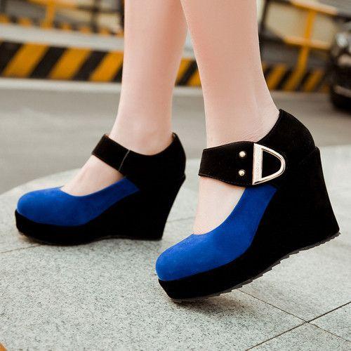 Tamanho grande 9 10 doce senhora de bombas Mary Jane cunhas femininos plataforma de lantejoulas sapatos laranja 1 A0A em Bombas das mulheres de Sapatos no AliExpress.com | Alibaba Group
