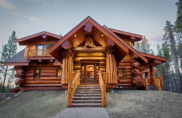 2013 Parade Home Moose Ridge Cabin Log Home - rustic - Exterior - Denver - Mountain Log Homes & Interiors