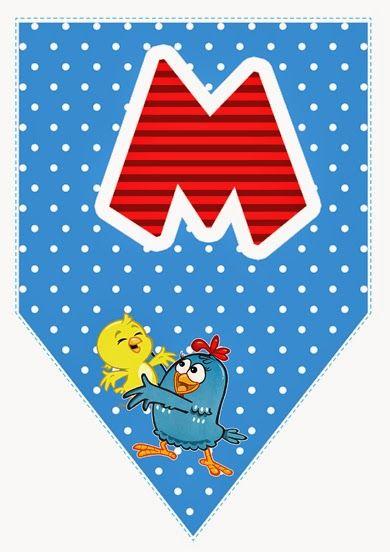 VISITE A GALERIA DE ALFABETOS  CLICANDO AQUI!   __    O alfabeto da galinha pintadinha serve para você utilizar em festas de aniversário, es...