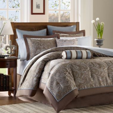 Madison Park Whitman 12 Pc Complete Bedding Set With Sheets Collection Found At Jcpenney