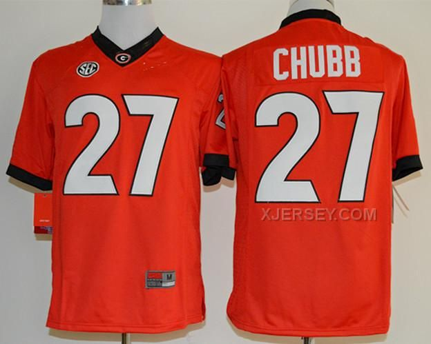 ... awesome 2014 New Arrival 27 Nick Chubb Jerseys Red Cheap Georgia  Bulldogs College Jersey Limited 25cff4dc8