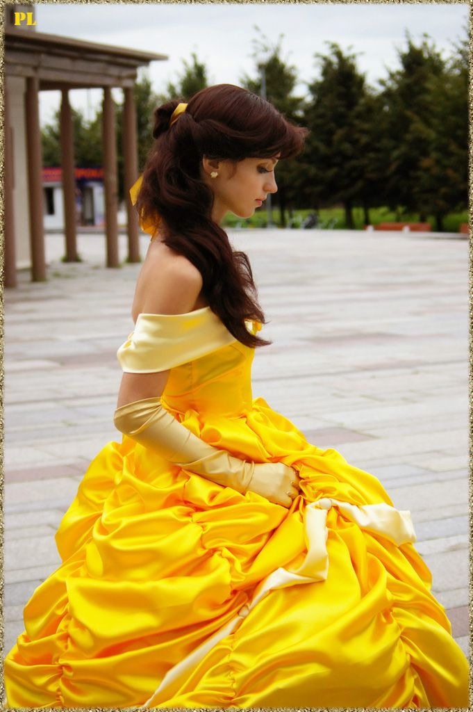 Belle cosplay Disney Princess Beauty & the Beast Costume Gown Dress #timetravelcostumes @TimeTravelStyle