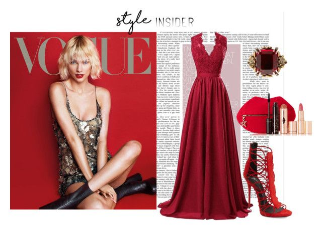 """""""Lady in red"""" by ginewwra on Polyvore featuring moda, R&J, Giuseppe Zanotti, Charlotte Tilbury i Alexander McQueen"""