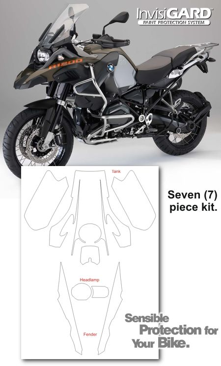 BMW R 1200 GS Adventure InvisiGARD Invisible Clear Paint and Headlight protection kits - R1200GS