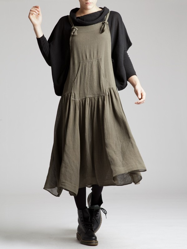 CREPE VISCOSE OVERALLS - JACKETS, JUMPSUITS, DRESSES, TROUSERS, SKIRTS, JERSEY, KNITWEAR, ACCESORIES - Woman -
