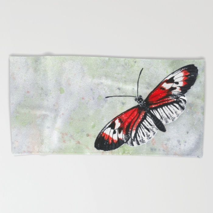 piano key butterfly beach towel bath towel hand towel by savousepate - Red And Black Print Bath Towels