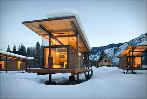 Rolling Huts by Tom Kundig of Olson Kundig Architects