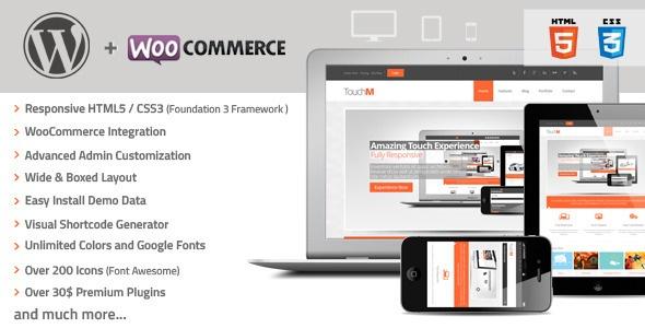 Amazing Wordpress TouchM Responsive WooCommerce Premium Theme - Version 1.2 Available