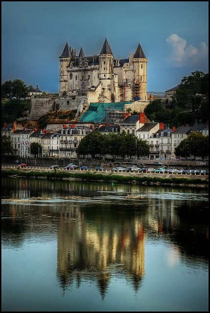 Chateau de Saumur on the Loire River, France