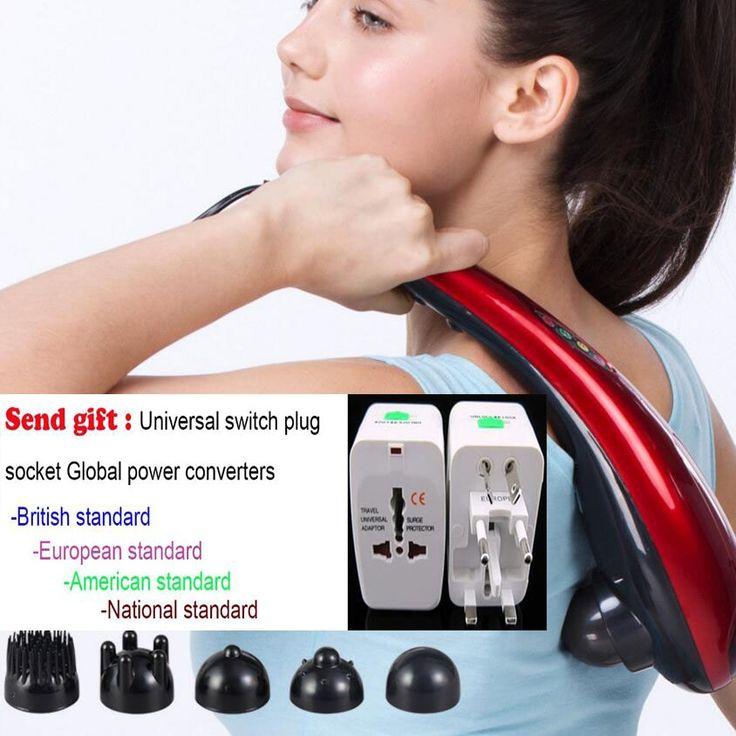 Dolphin massage stick Handle electric cervical vertebra massage device health beauty multifunctional full-body massage hammer