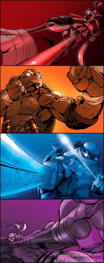 Teenage Mutant Ninja Turtles by: BiggCaZ on deviantART