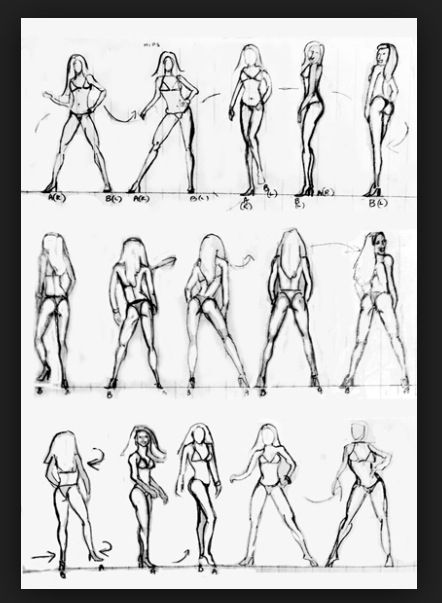 So important to get a posing coach. Practice practice practice in those clear heels!