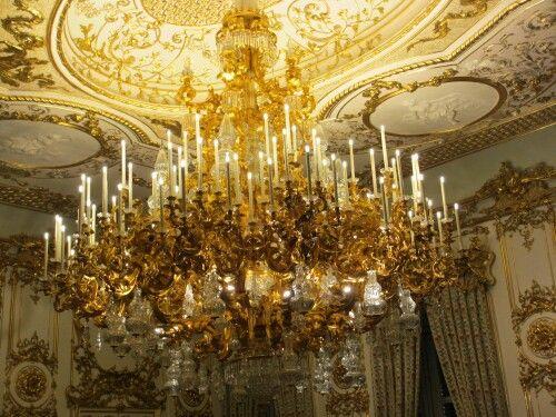 Vienna, Liechtenstein Palace chandelier.
