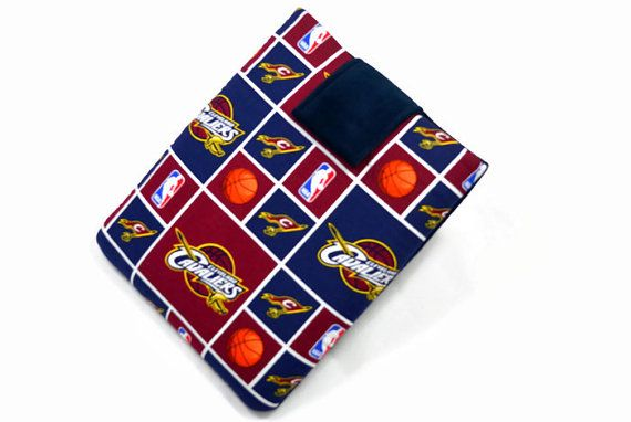 Hand Crafted Tablet Case From Licensed Cleveland Cavaliers Basketball Fabric / Case for: iPad Mini,Kindle Fire HD 7,Samsung Galaxy 7, Nook #nba #cavaliers #tabletcase #ipadcase #kindlecase