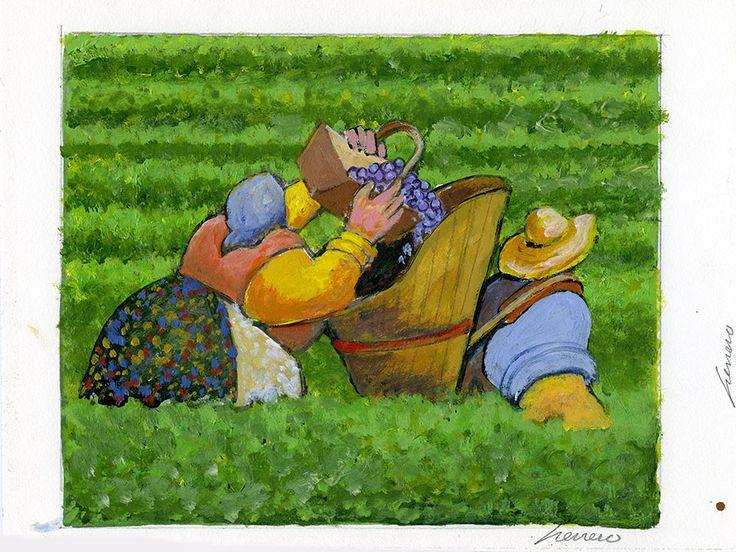 Harvest ~ Paintings by Lowell Herrero |Sunflower Harvest Lowell Herrero