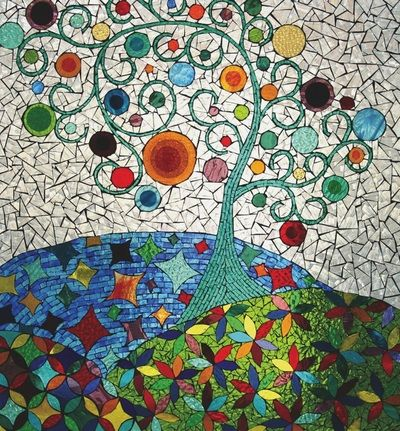 25 best ideas about mosaic wall on pinterest mosaic for Broken glass mural