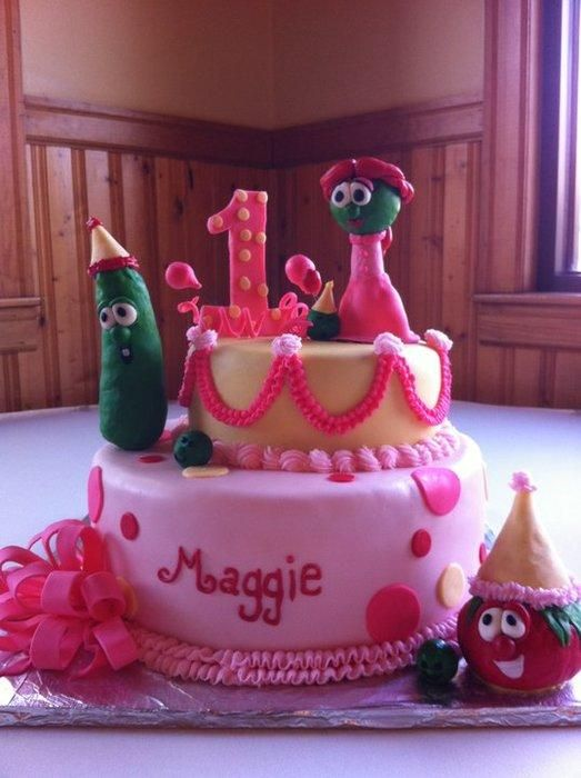"""Veggie Tales """"1st Birthday"""" cake"""