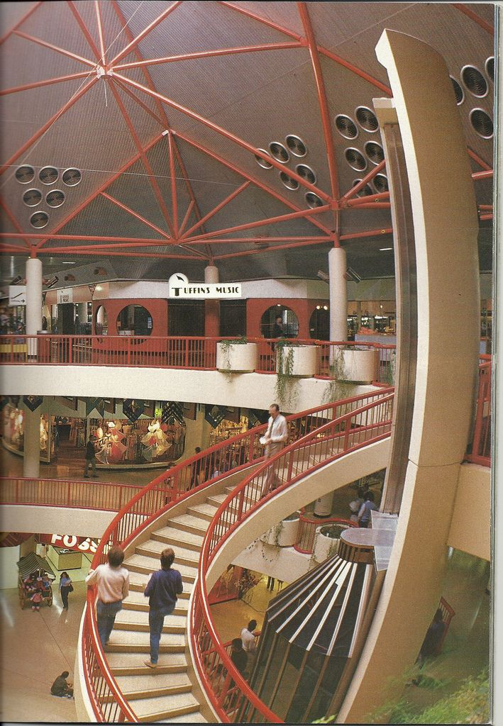 https://flic.kr/p/7DEH6N | Belconnen Mall | This photograph showing the Belconnen Mall before refurbishment in 1979.   Photograph is a scan of an old Canberra tourist brochure.   Belconnen Mall was bought by Westfied, who refurbished the centre in 1989. Previously, the operators of the mall were Canberra  Commercial Development Authority.