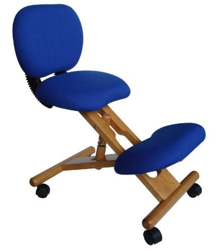 will this blue kneeling office chair help me sit up straighter