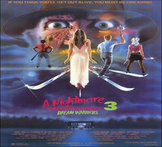 """""""Pesadilla en Elm Street 3"""" Survivors of undead serial killer Freddy Krueger - who stalks his victims in their dreams - learn to take control of their own dreams in order to fight back."""