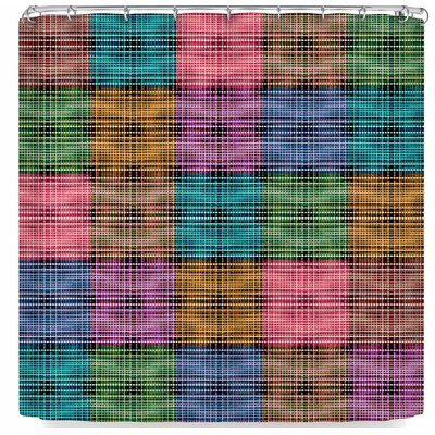 East Urban Home Ebi Emporium Der Patchwork Tartan 3 Duschvorhang   – Products