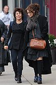 Helena Bonham Carter and Ruby Wax seen out and about in Notting Hill  Featuring: Helena Bonham Carter, Ruby Wax - Stock Photo