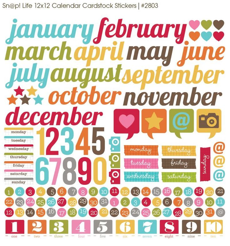 calendar stickers | Simple Stories
