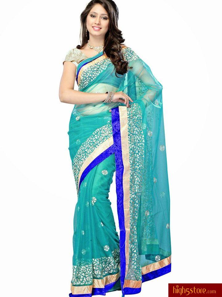 http://www.high5store.com/designer-sarees/308004-magnificent-blue-net-saree.html
