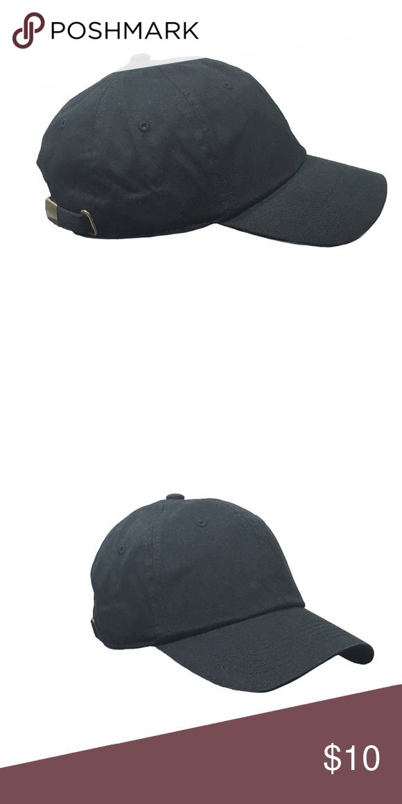 Selling this Blank Baseball Cap, Black on Poshmark! My username is: soma_clothing. #shopmycloset #poshmark #fashion #shopping #style #forsale #Other #men #street #woman #cap #blank #baseball