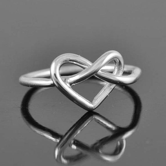I LOVE this! infinity ring heart ring sterling silver ring by JubileJewel, $25.00