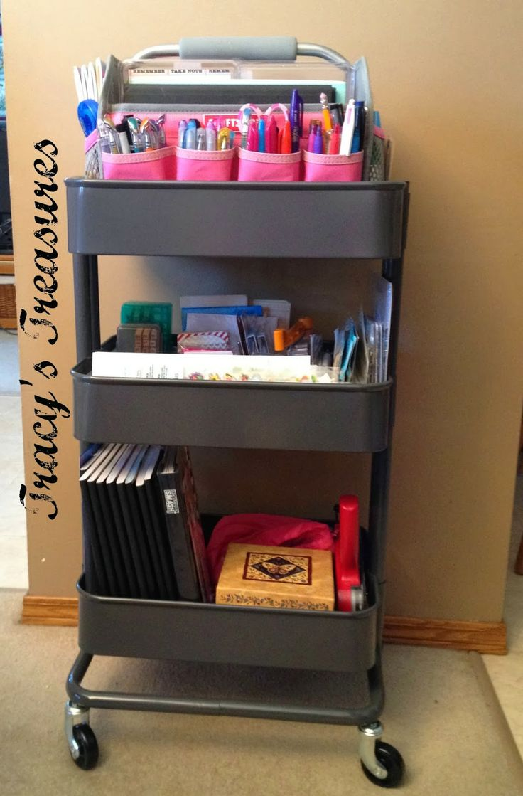Tracys Treasures Grey Raskog Cart Organized Organized
