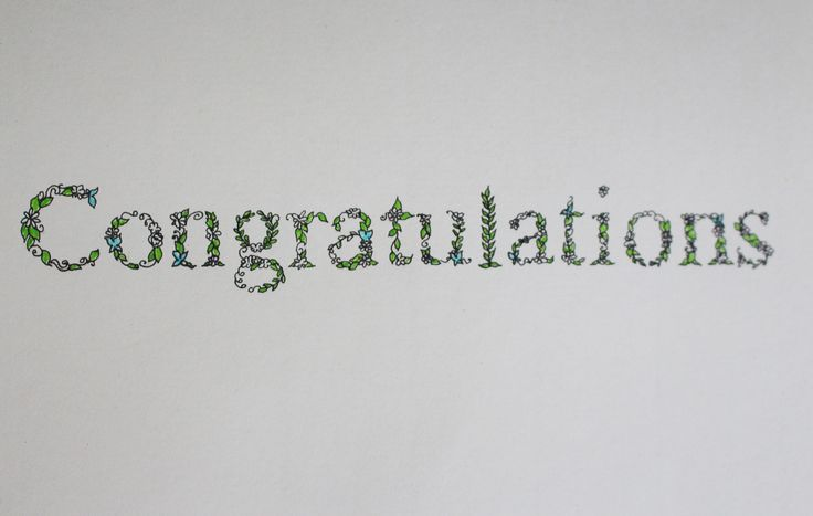 A congratulations card, inspired by Johanna Basford