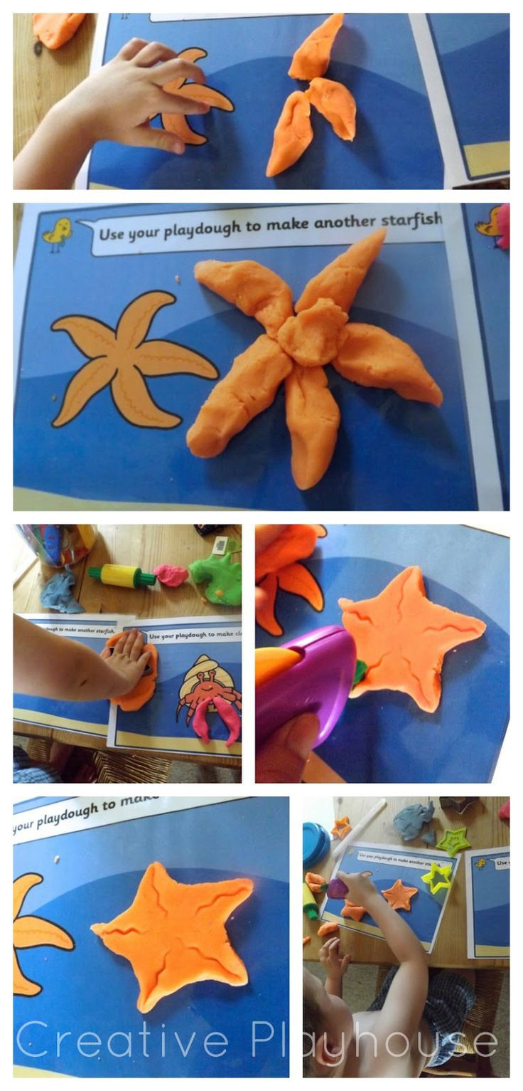 Under the Sea, Creative Playhouse, Play dough, Starfish, Display, Classroom display, Early Years (EYFS), KS1 & KS2 Primary Teaching Resources
