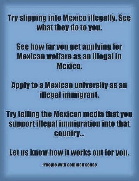 ....just try it, especially you ignorant liberal democrats.... Build the wall
