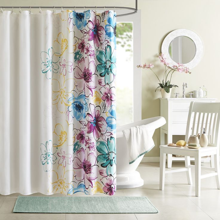 1000 Ideas About Floral Shower Curtains On Pinterest