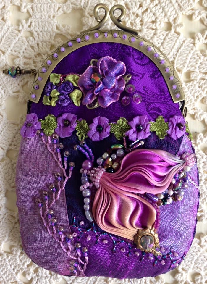 I ❤ crazy quilting, beading & ribbon embroidery . . . Latest beauty, finished ~By Pat Winter
