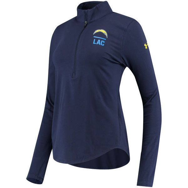 Los Angeles Chargers Under Armour Women's Combine Authentic Favorites Half-Zip Pullover Performance Jacket - Navy - $59.99