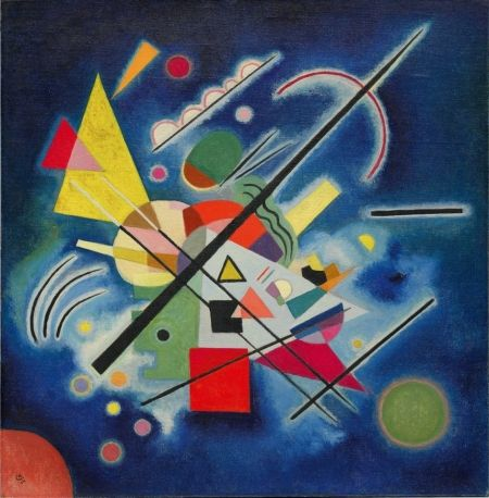 Wassily Kandinsky - Blue painting  1924