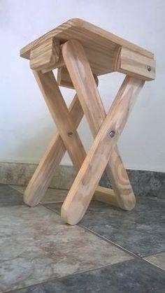 banco de madeira banqueta portátil dobrável pescaria festas