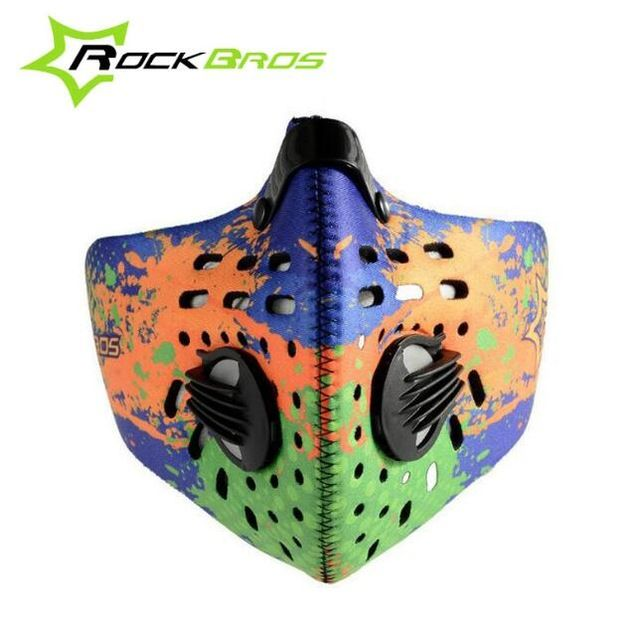 RockBros Cycling Face Mask Sports Jogging Training Mask Fitness Dust Mask Mens Motorcycle Air Filter Mask Half Face Bike
