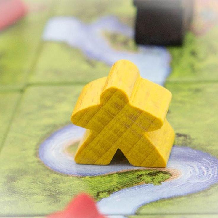 meeple! #carcassonne #meeples #boardgames #brætspil #brädspel #brettspill
