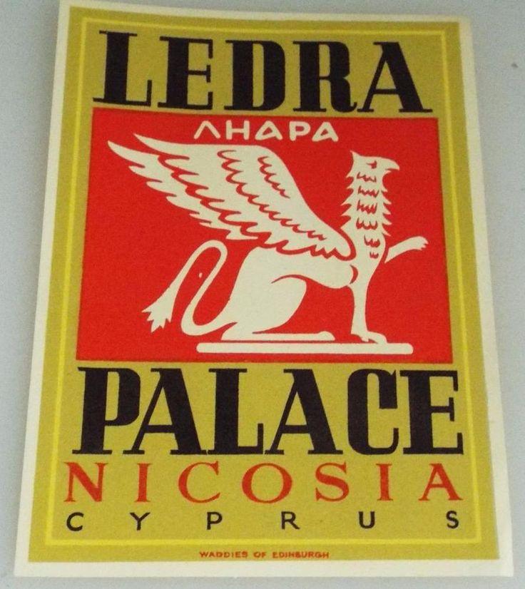 Ledra Palace - Nicosia - Cyprus - Vintage Hotel Luggage Label