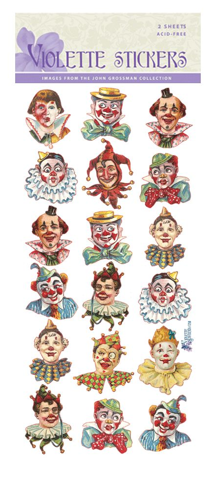 how to make clown with shapes