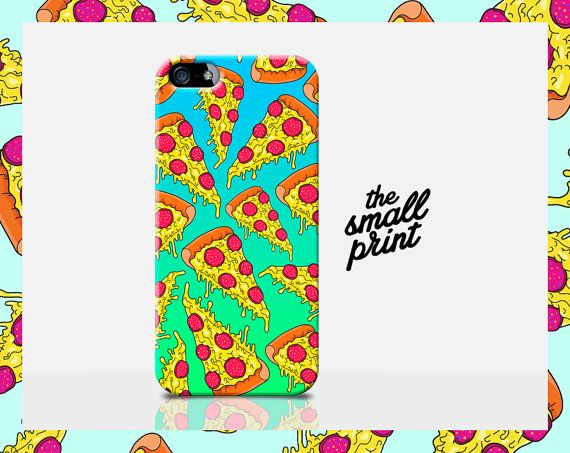 Really cool Cartoon PIZZA SLICE cell phone case for your new Apple iPhone 6!!! This Homer Simpsons *inspired* (not Official) slim hard