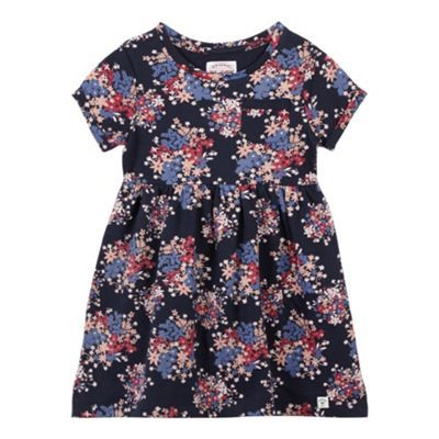 Mantaray Girl's navy ditsy floral dress- at Debenhams.ie
