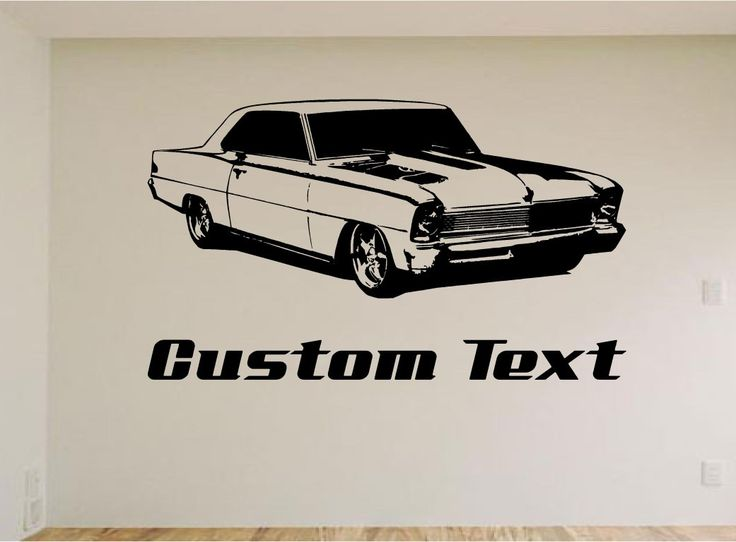 2nd Generation Chevy Nova Car Wall Decal - Auto Wall Mural - Vinyl Stickers - Boys Room Decor