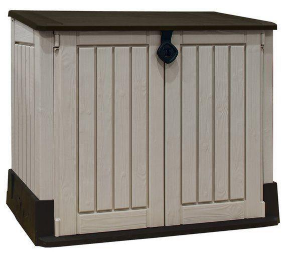 buy keter store it out midi storage box beigebrown at argosco