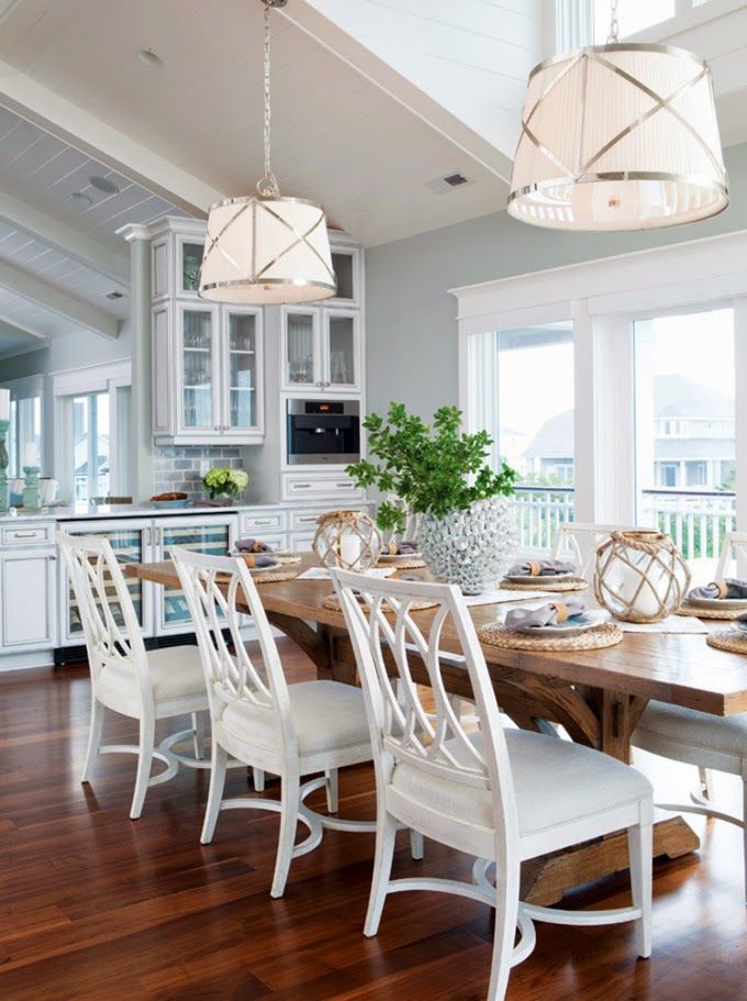 House Of Turquoise Coastal Living Kitchen Dining Roomswhite