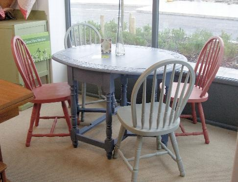 Purple pink and grey table set...now sold!!